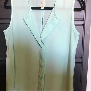 Mint green sleeveless top